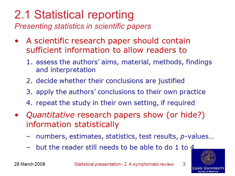 Statistical analysis of research paper