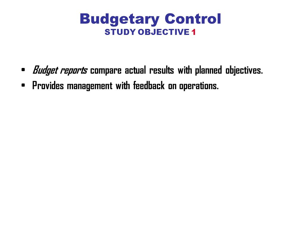 budgetry control study synopsis Analysis of the effectiveness of budgetary control techniques on organizational performance at dara-salaam bank headquarters in hargeisa somaliland.