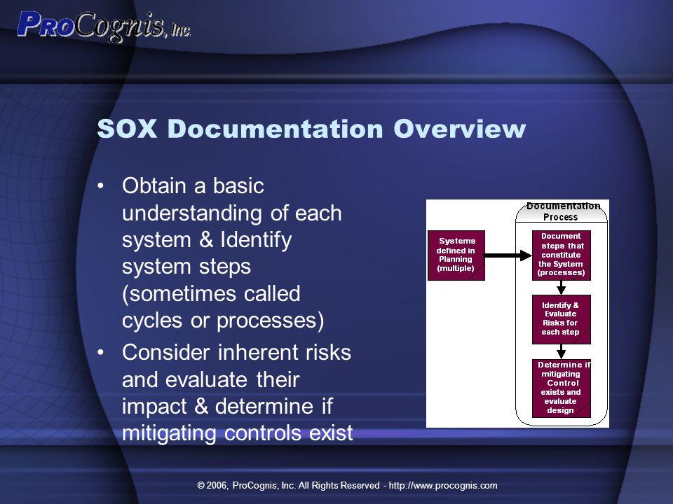 8 sox documentation overview - Sox Process Documentation