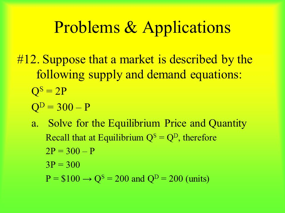 Problems & Applications