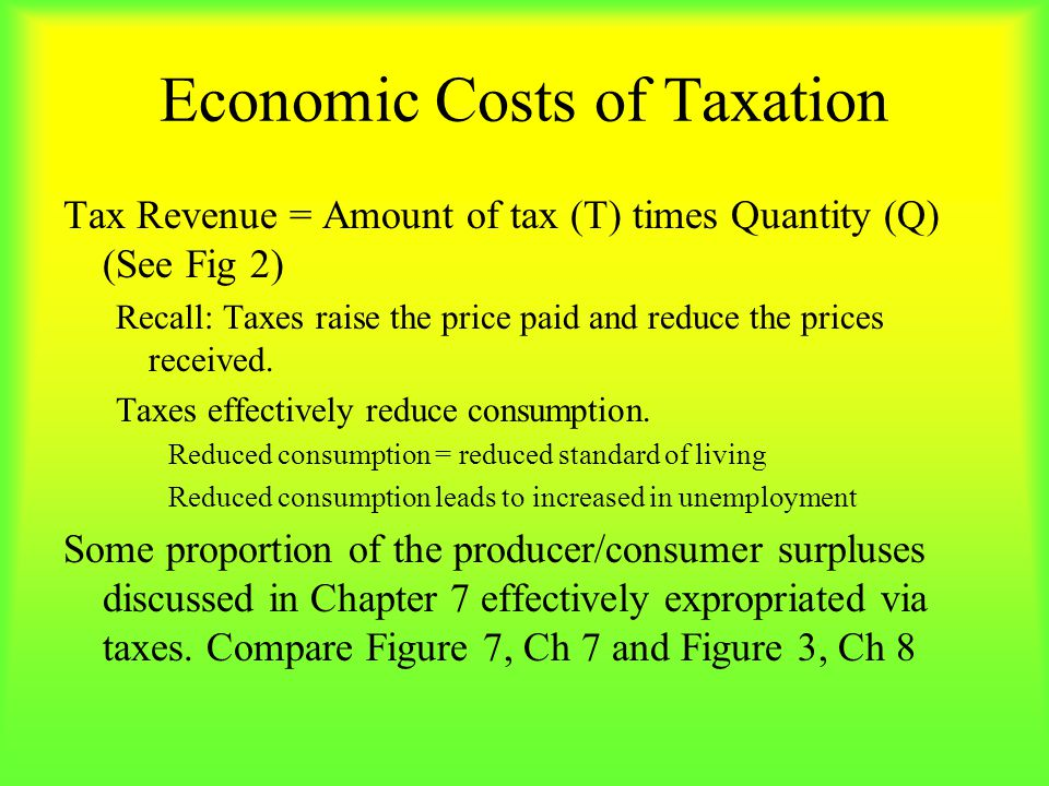 Economic Costs of Taxation