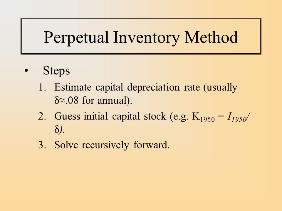 Perpetual Inventory Method