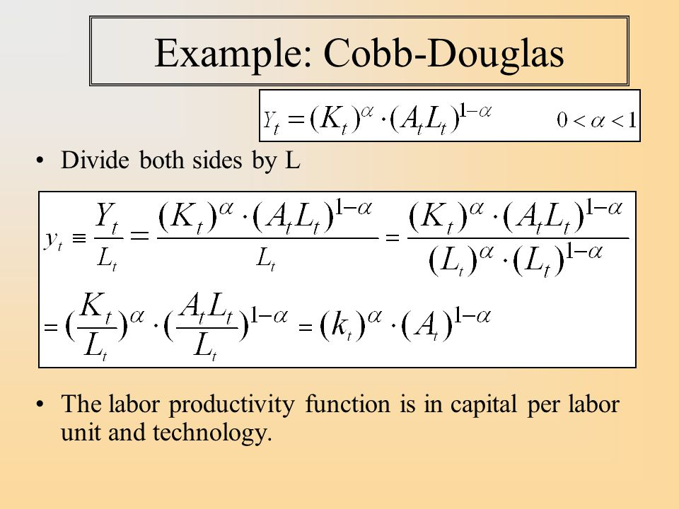 Example: Cobb-Douglas