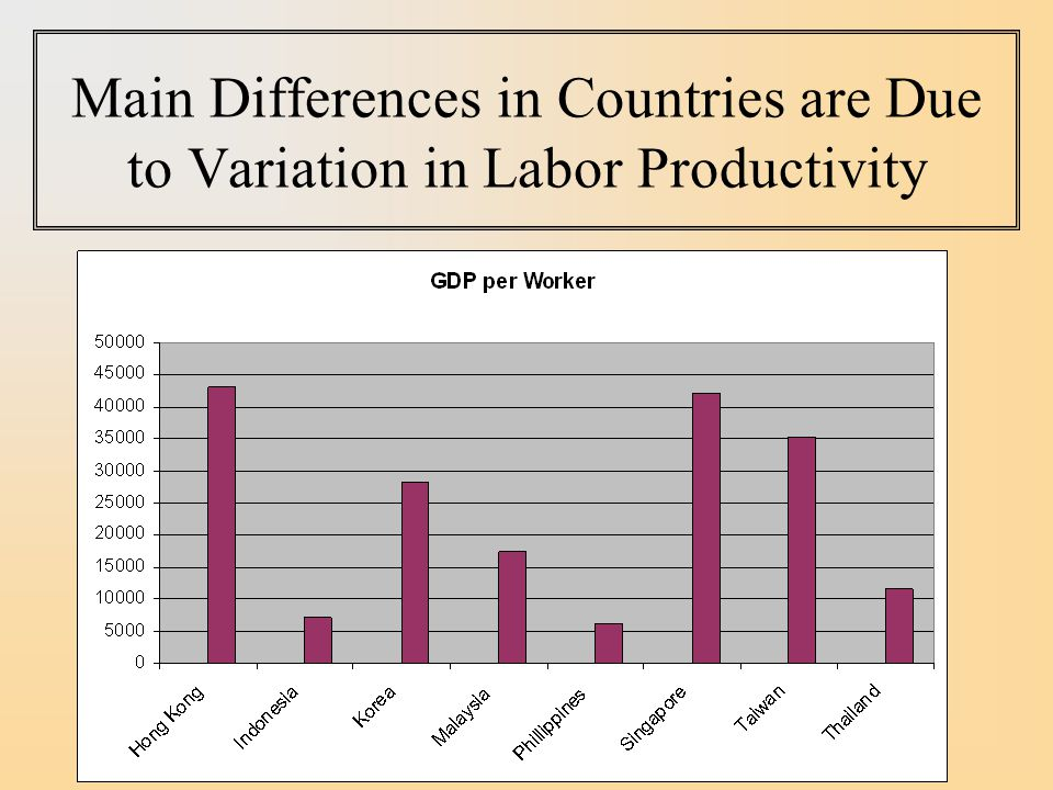Main Differences in Countries are Due to Variation in Labor Productivity