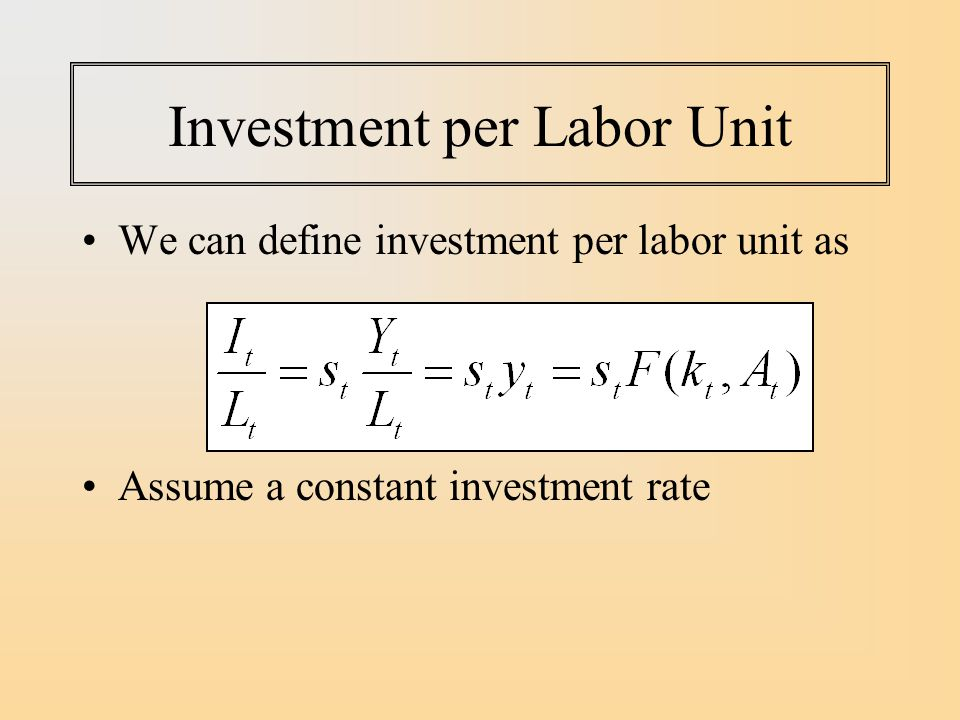 Investment per Labor Unit