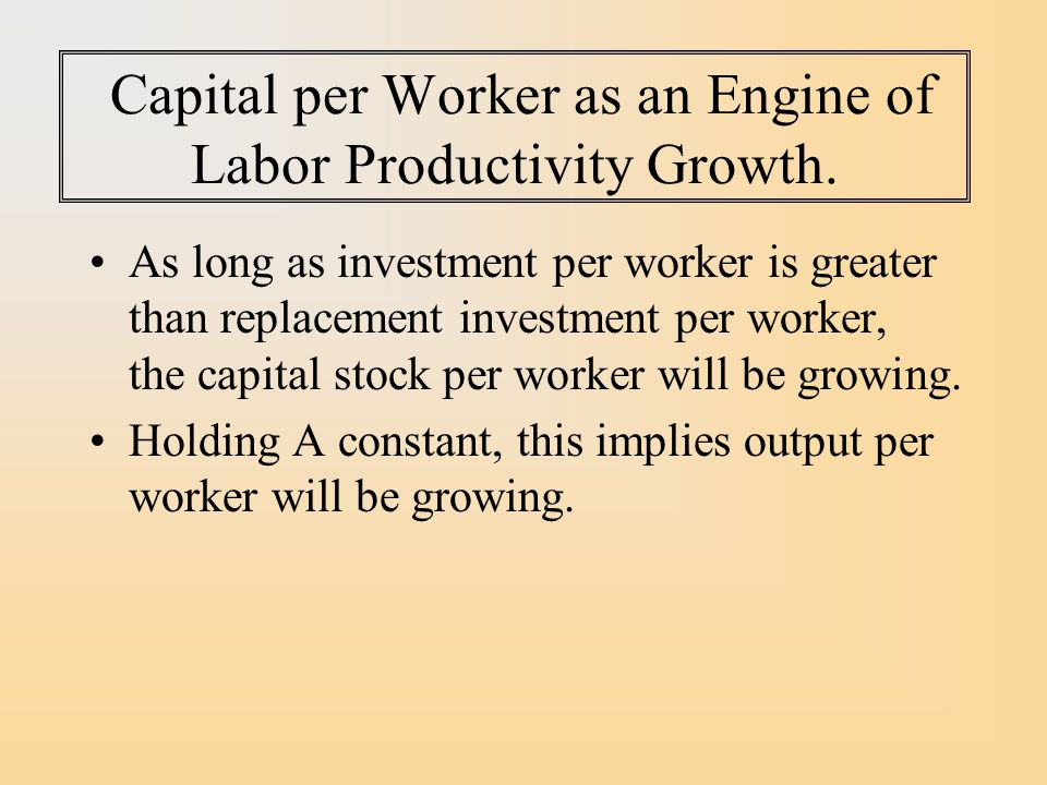 Capital per Worker as an Engine of Labor Productivity Growth.