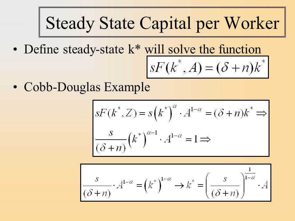 Steady State Capital per Worker