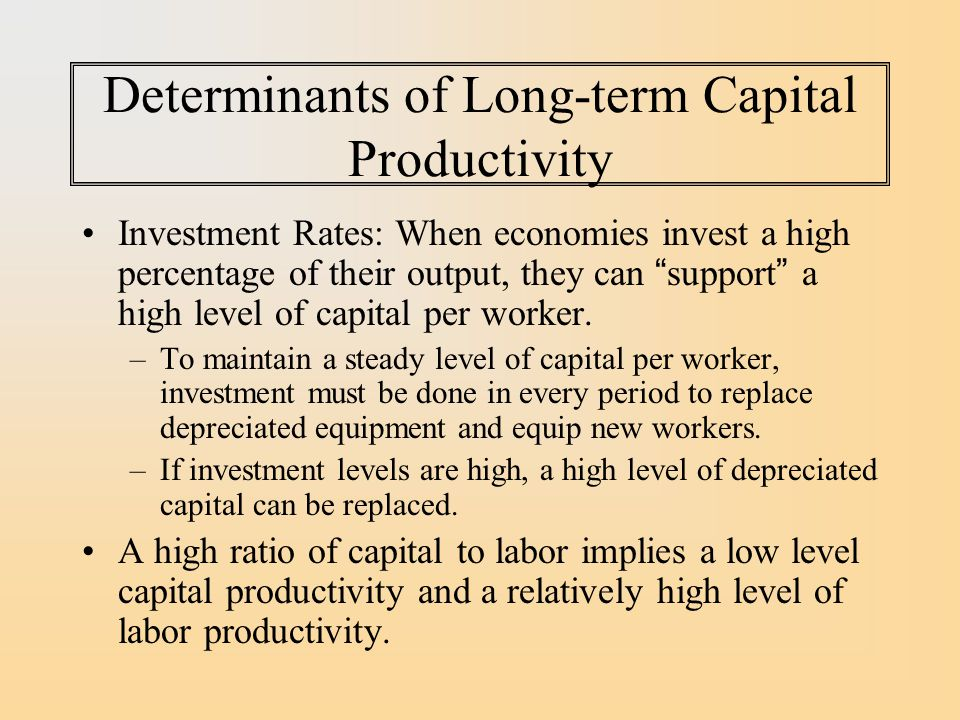 Determinants of Long-term Capital Productivity