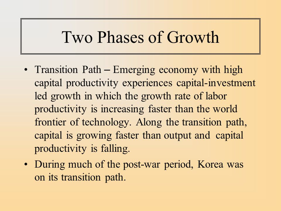Two Phases of Growth
