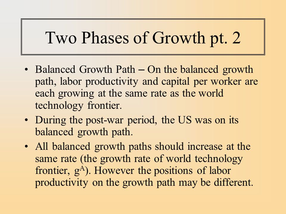 Two Phases of Growth pt. 2
