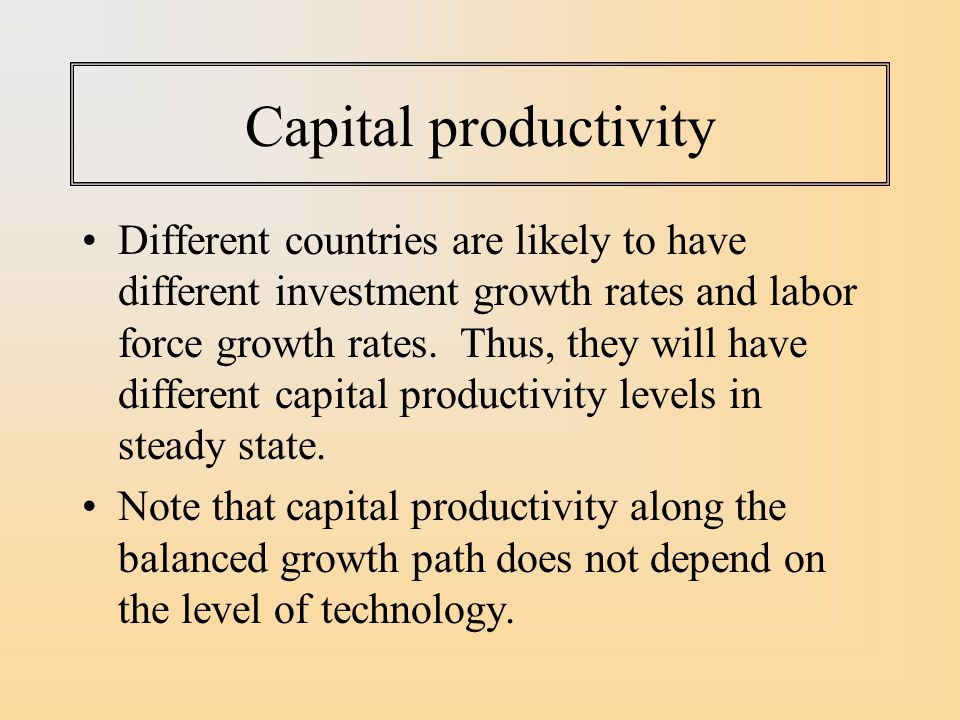 Capital productivity