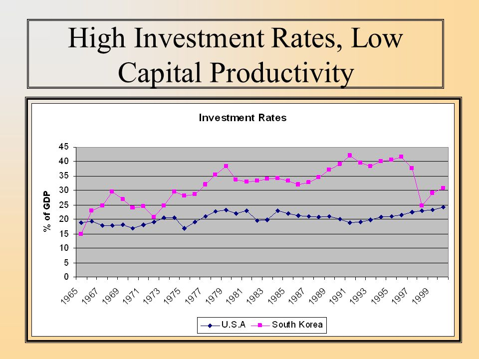 High Investment Rates, Low Capital Productivity