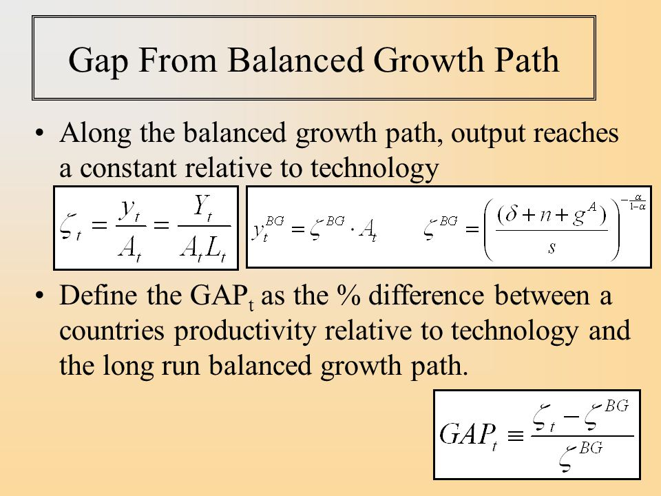 Gap From Balanced Growth Path