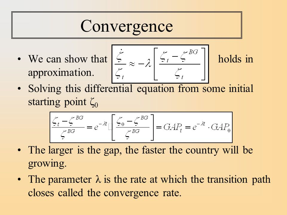 Convergence We can show that holds in approximation.
