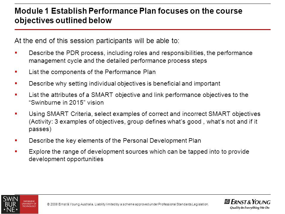 "Module 1 – ""Establish Performance Plan"" For Academic Staff - Ppt"