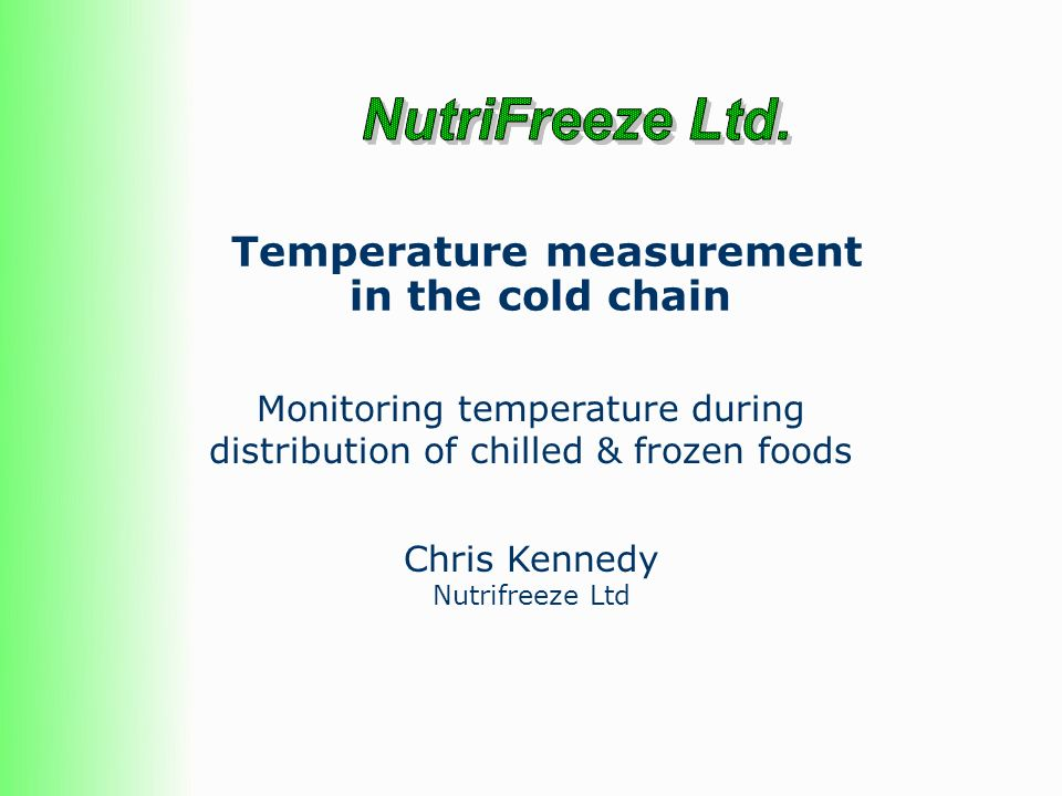 Temperature measurement in the cold chain