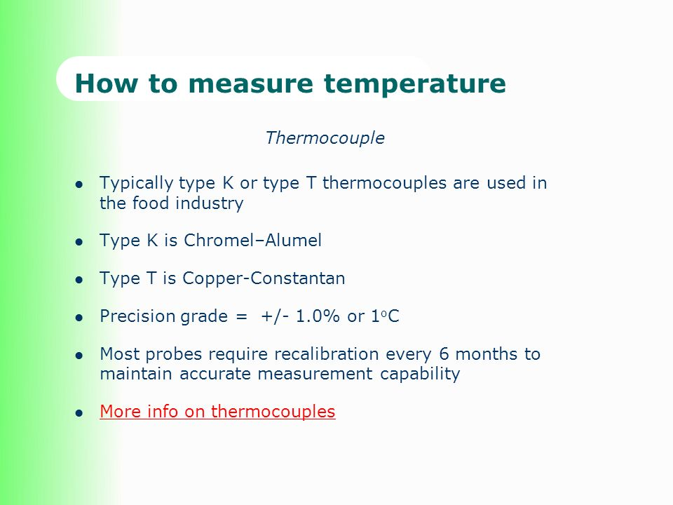 How to measure temperature