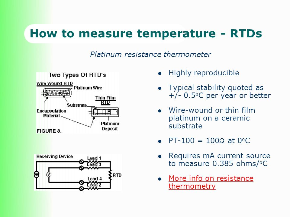 How to measure temperature - RTDs