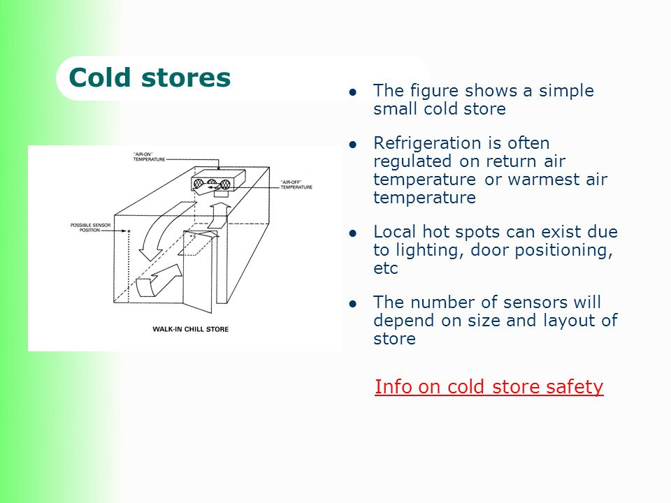 Cold stores Info on cold store safety