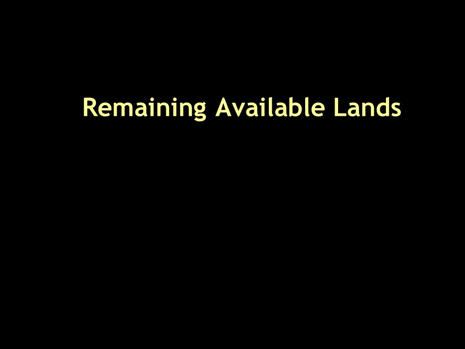 Remaining Available Lands