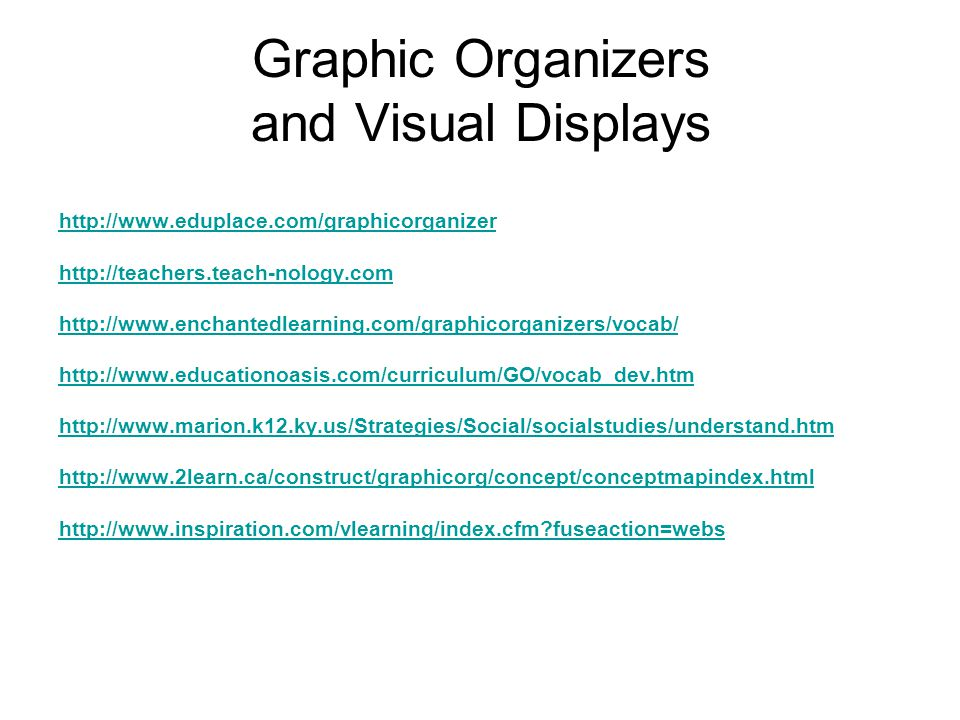 Graphic Organizers and Visual Displays