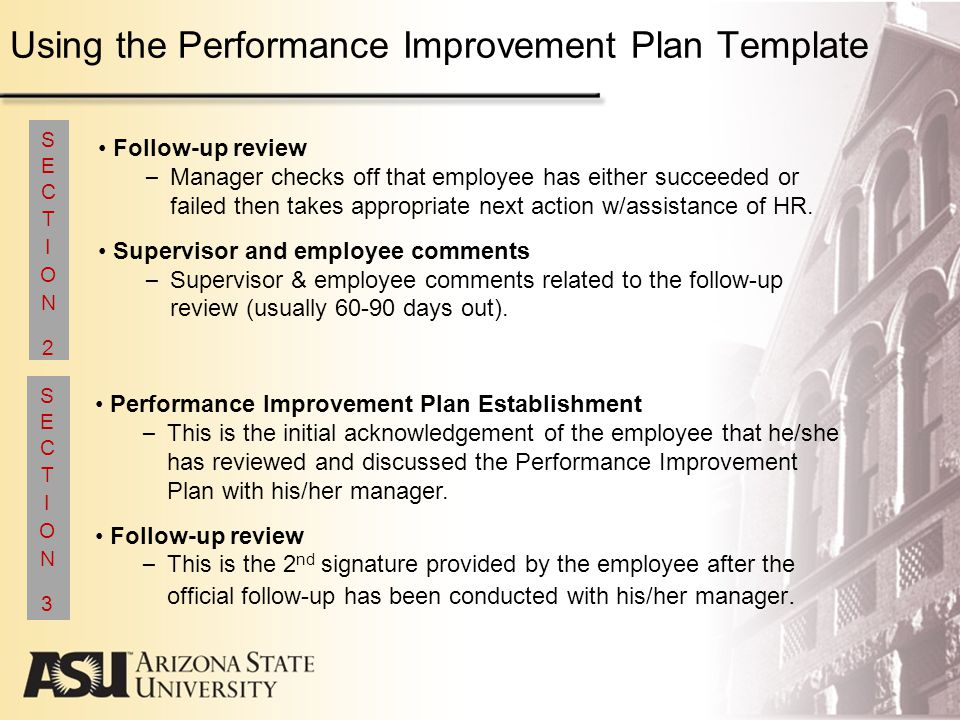 Arizona State University Performance Management Program Guidelines