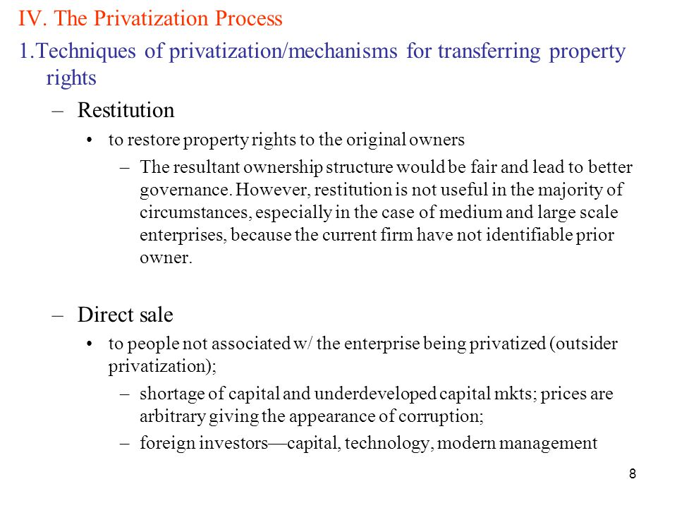 """privatization will lead to less corruption - 1 - privatization and corruption in the transition by daniel kaufmann and paul siegelbaum1 """"if you think privatization is corrupt, try without it"""" anonymous official, in response to halt by ukraine's."""