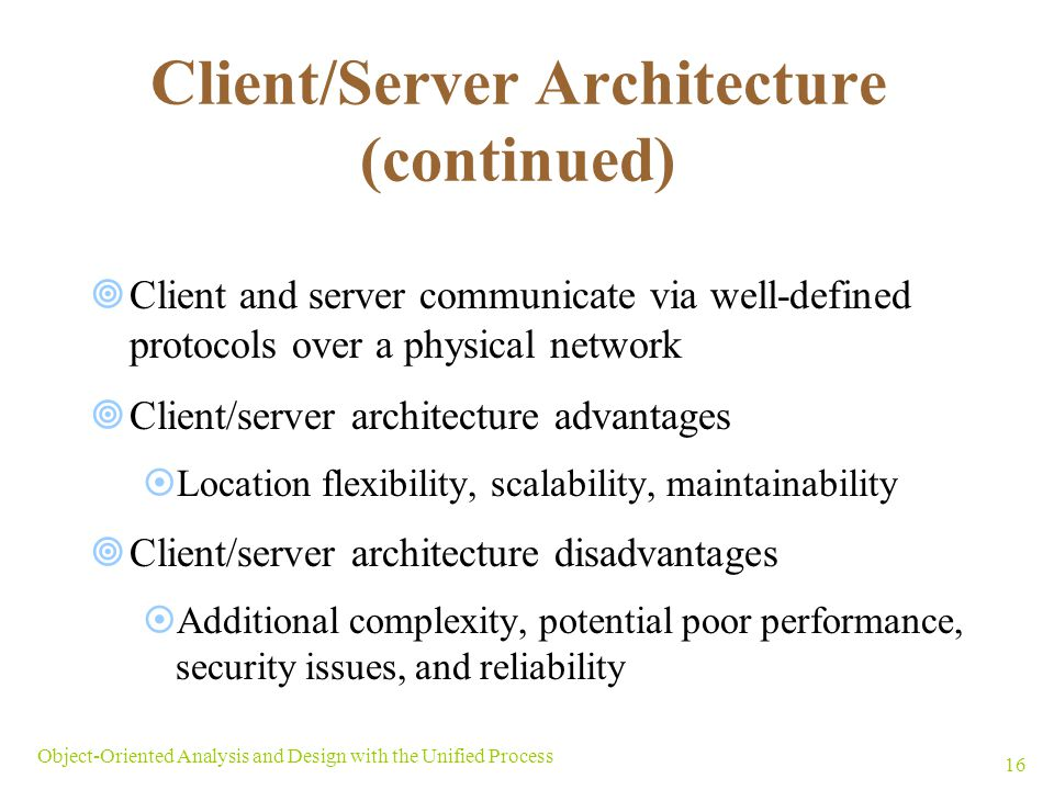 Client/Server Architecture (continued)