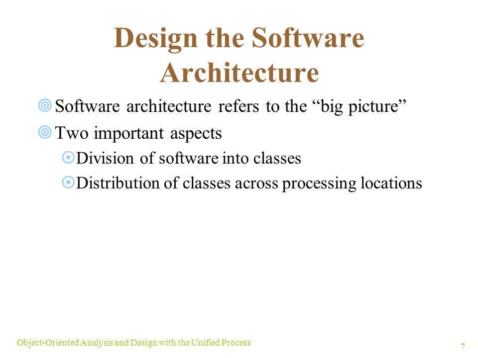 Design the Software Architecture