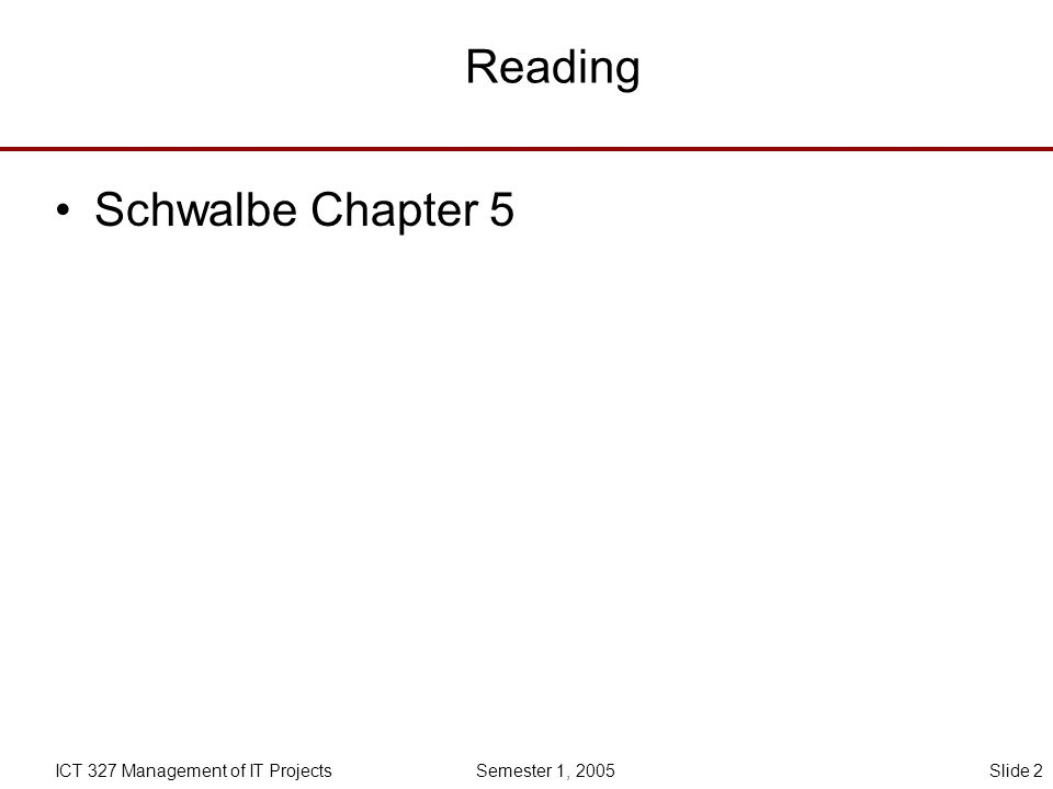 Reading Schwalbe Chapter 5