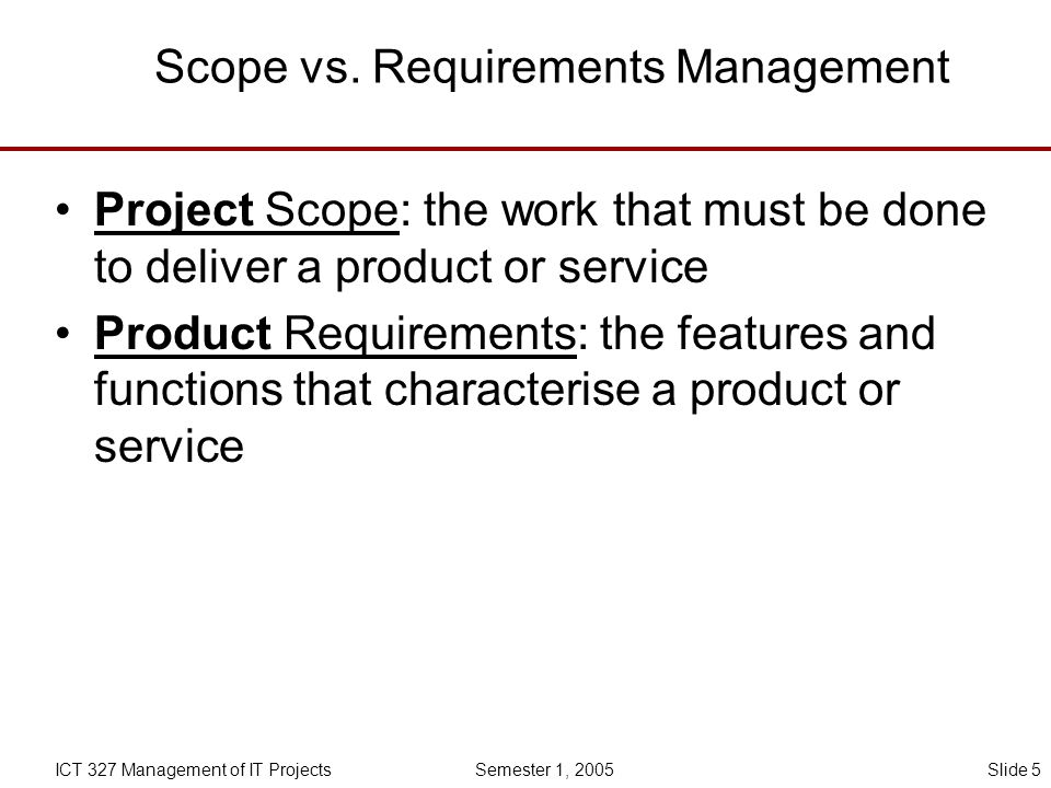Scope vs. Requirements Management