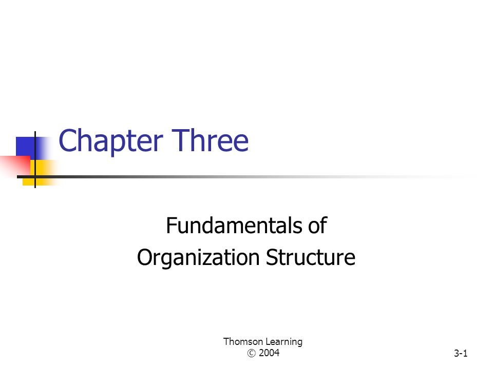 Chapter 15 - Foundation of Organization Structure (3)