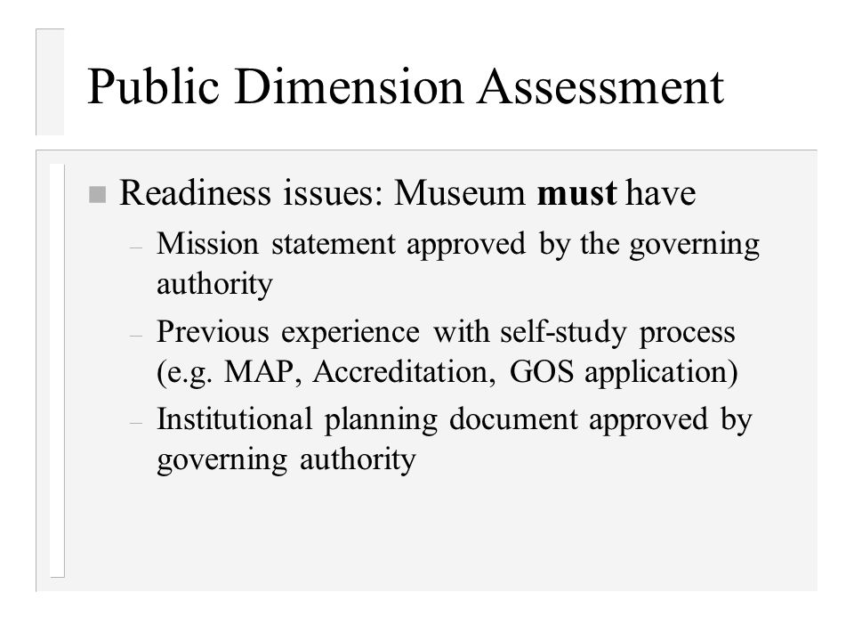 Public Dimension Assessment