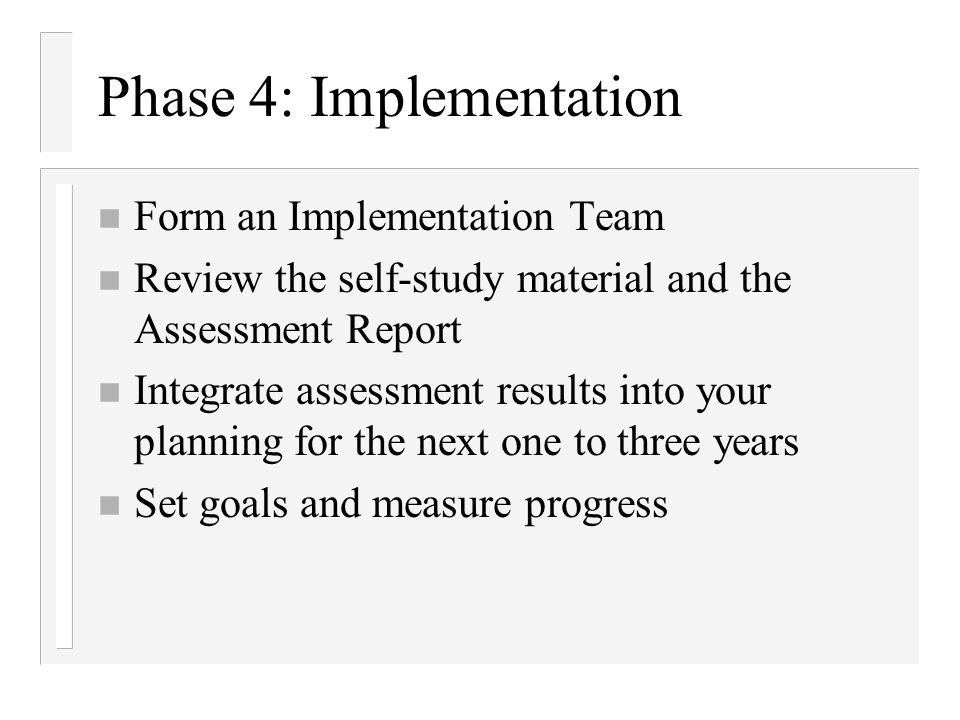 Phase 4: Implementation