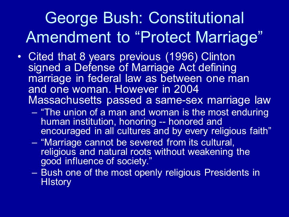 Same Sex Marriage and The Ninth Amendment The