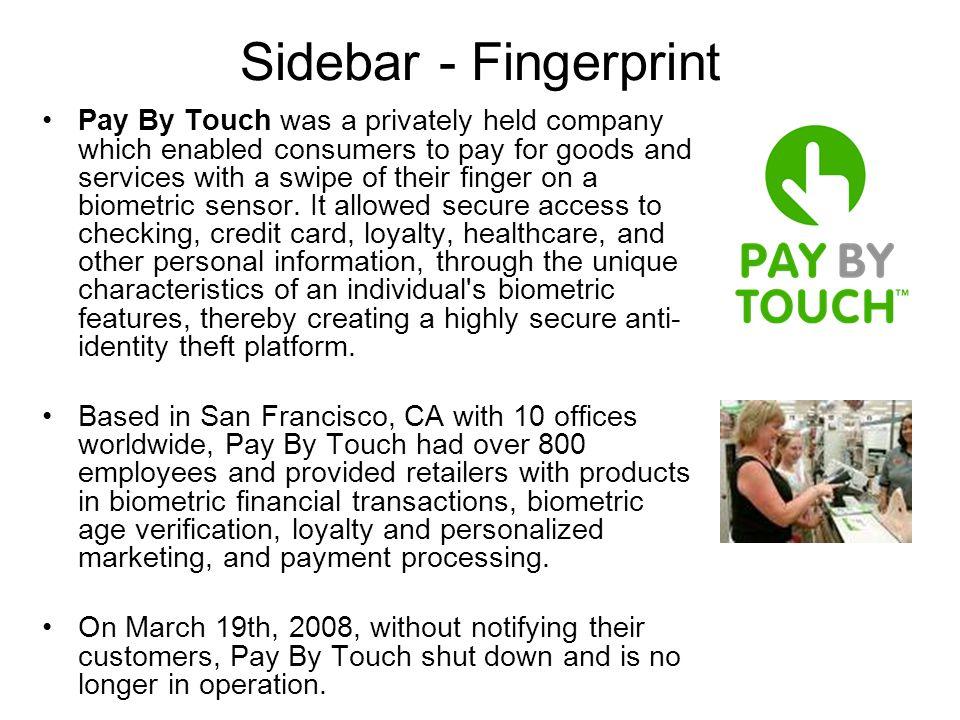 Sidebar - Fingerprint