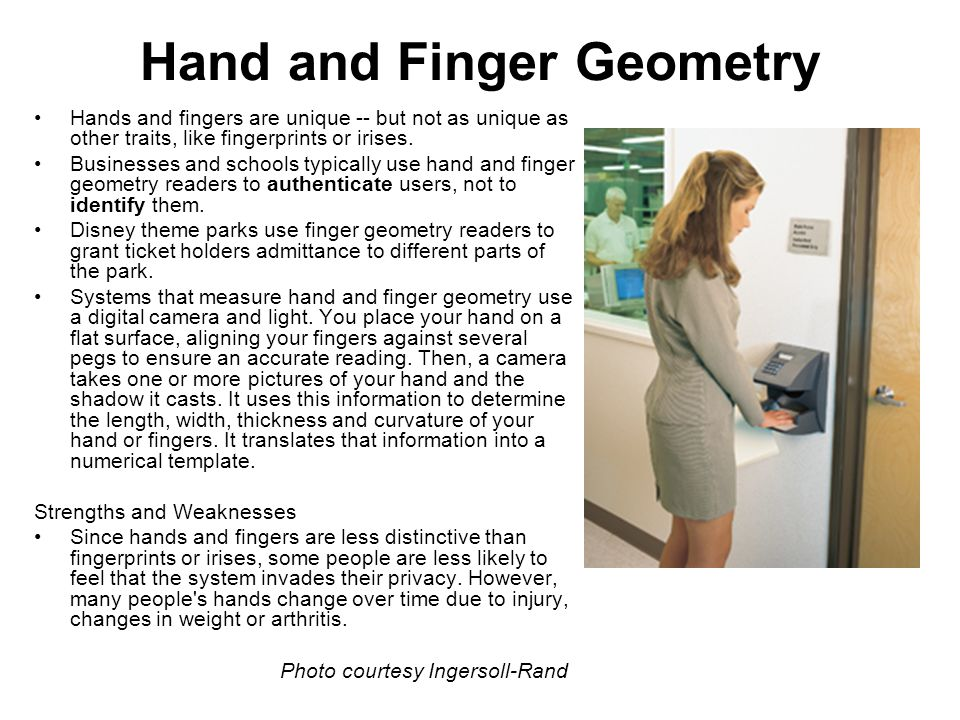 Hand and Finger Geometry
