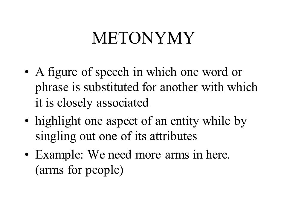 EXTENDED AND TRANSFERRED MEANING :Metaphor and Metonymy - ppt video ...