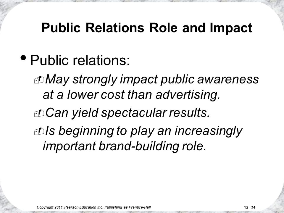 Public Relations Role and Impact