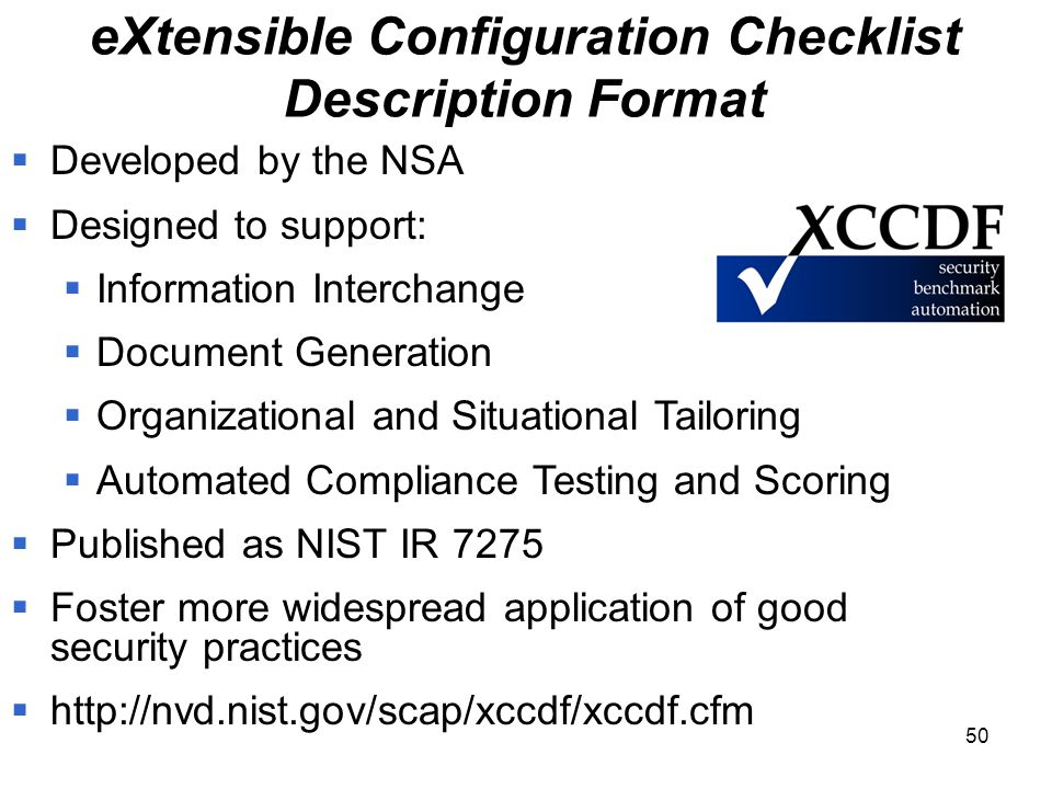 Application Security: Nist Application Security Checklist