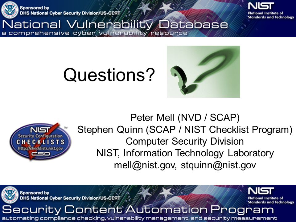 Application Security: Nist Application Security Checklist