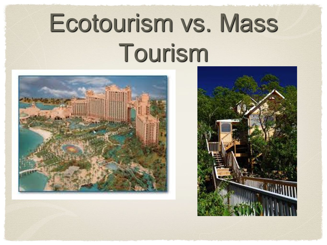 Mass Tourism and the Home-Based Travel Agent