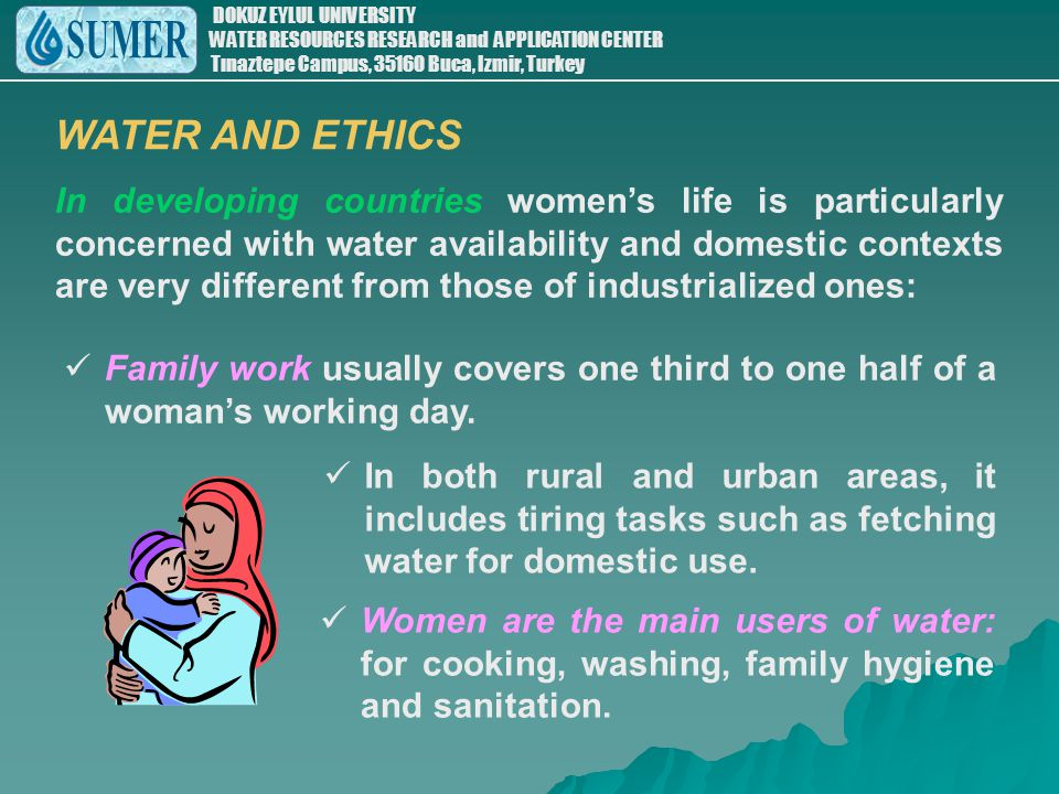 WATER AND ETHICS