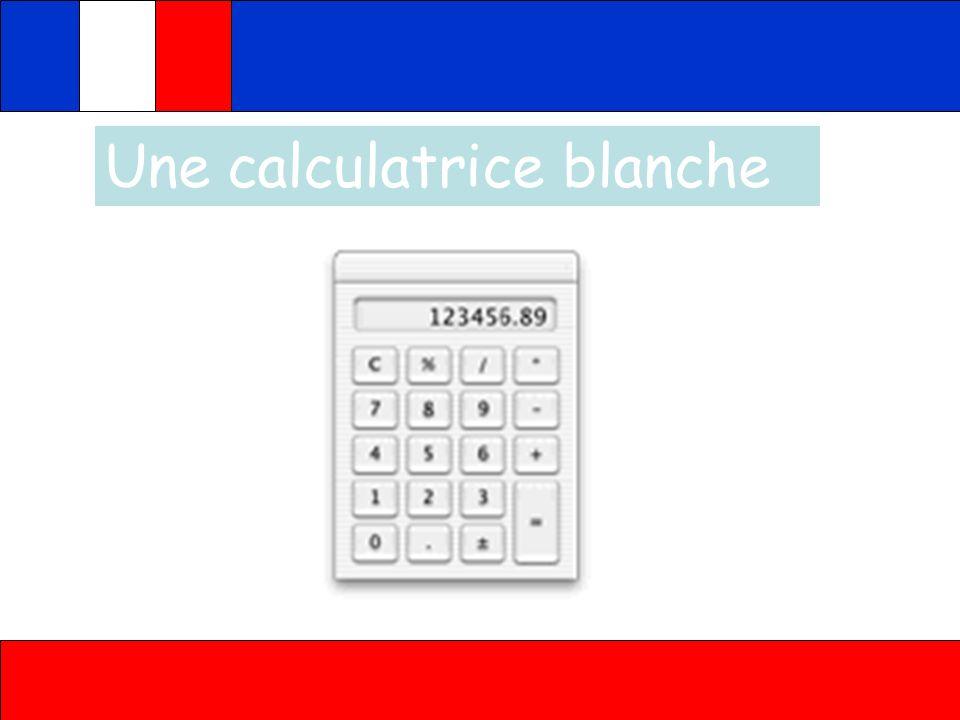 Une calculatrice blanche