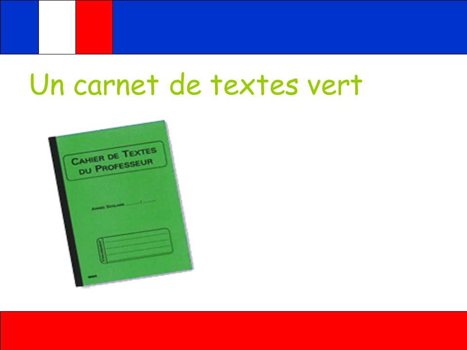 Un carnet de textes vert