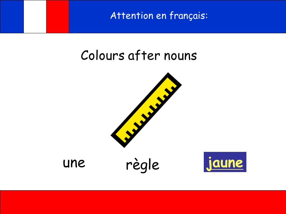 Attention en français:
