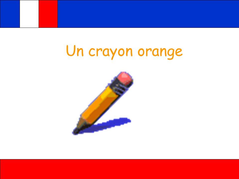Un crayon orange