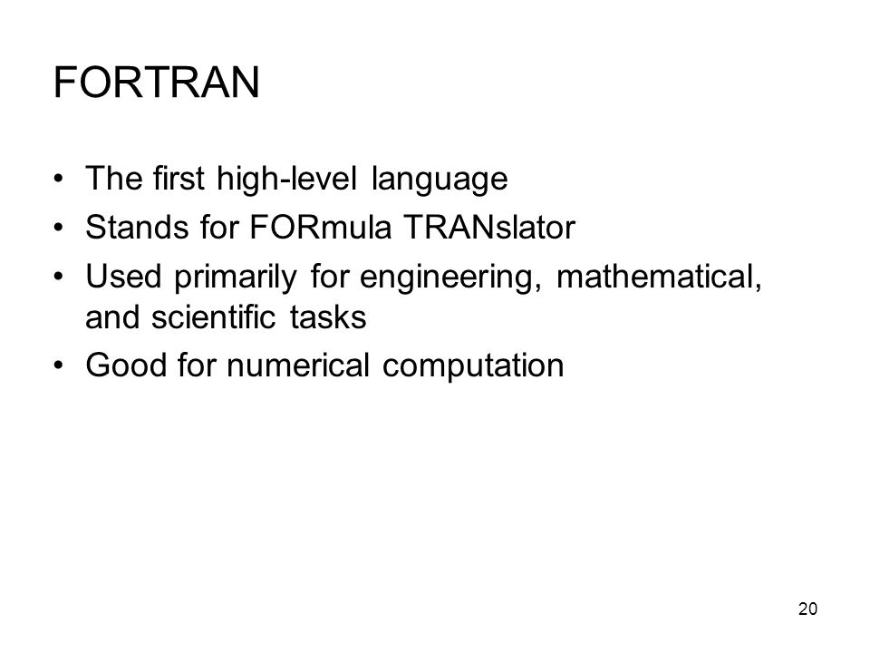 an analysis of fortran the oldest computer programming language From a programming point of view, c# is very mature programming language and does (natively) offer a plenty of very interesting possibilities such interaction with databases, excel, real time application, gpu programming.