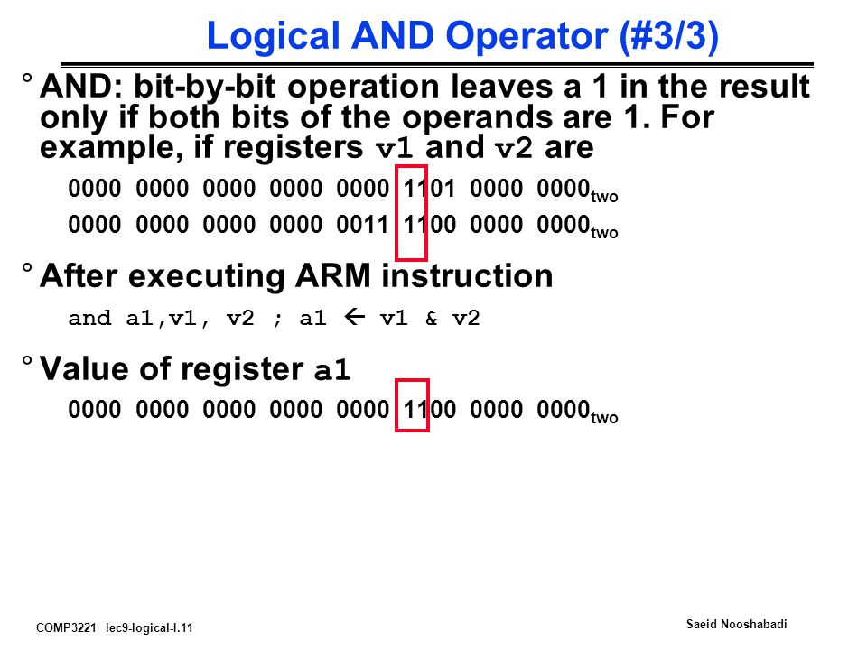 Logical AND Operator (#3/3)