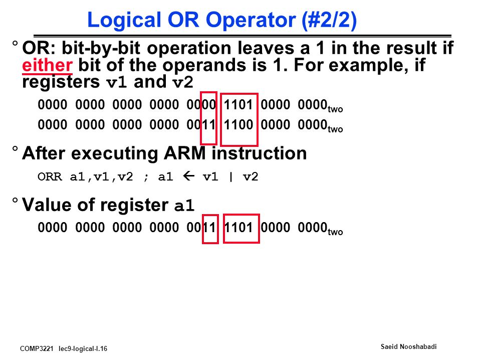 Logical OR Operator (#2/2)